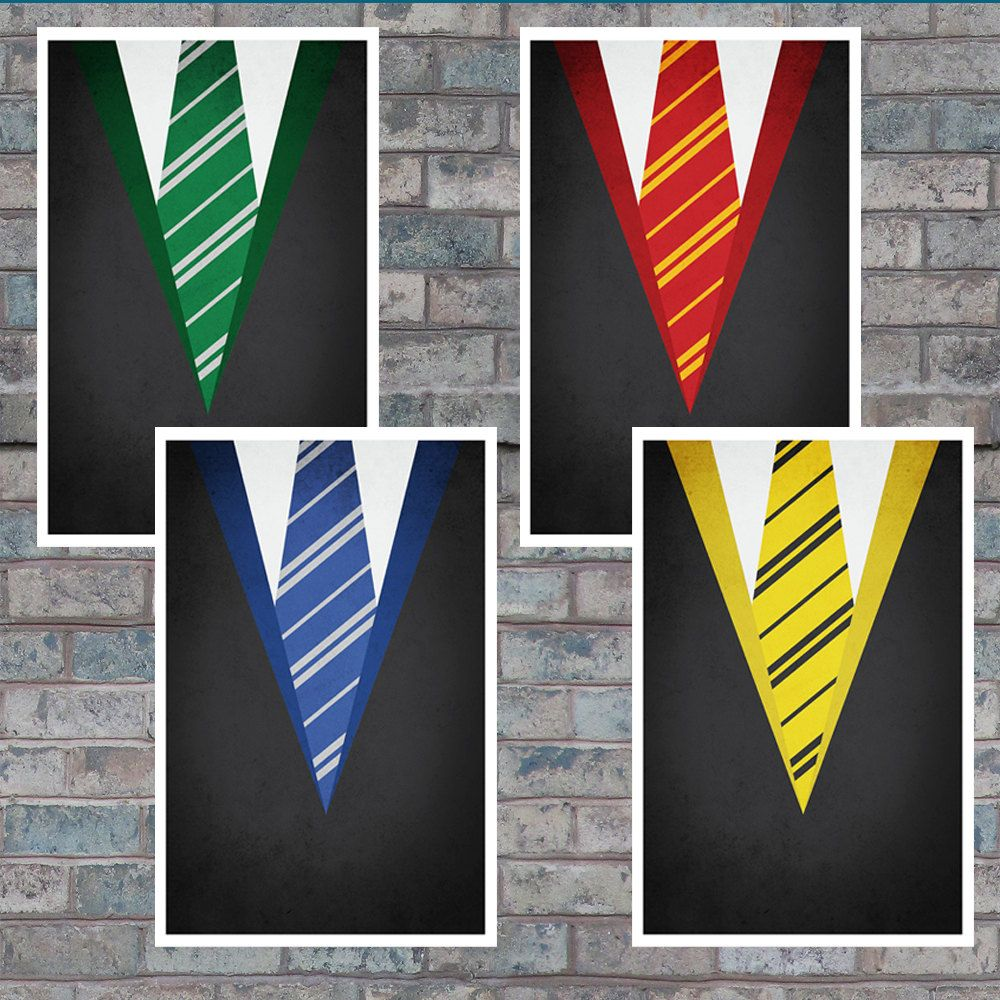 eb49df7127 Minimal Hogwarts House Robe Poster Collection - Harry Potter Art Prints -  11x17.  32.99