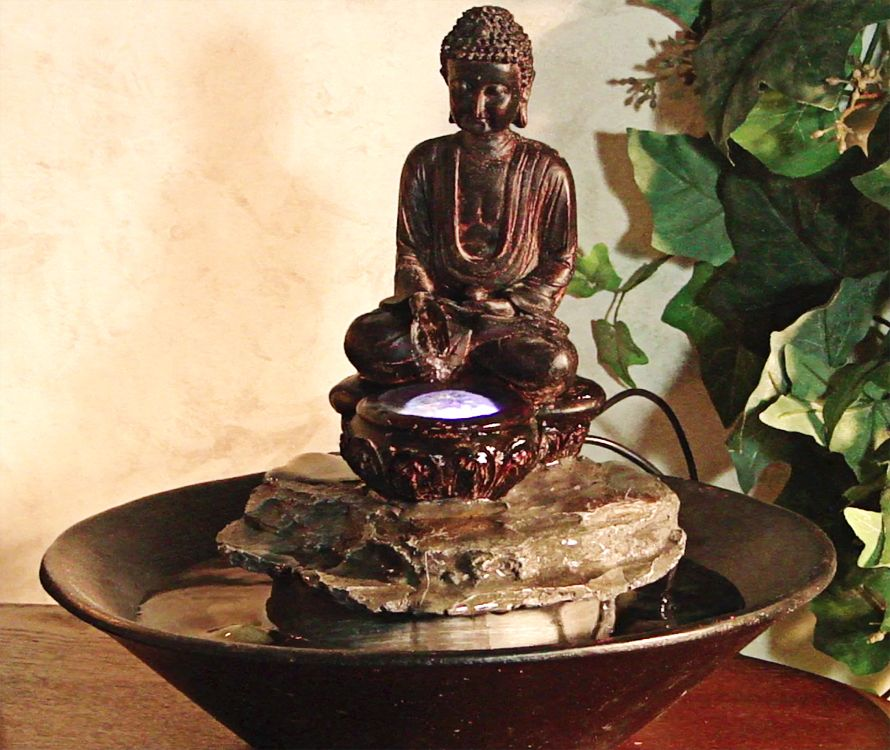 Large Selection Of Water Fountains Including The Alpine Garden Buddha  Cobblestone Tabletop Fountain By Alpine Corporation