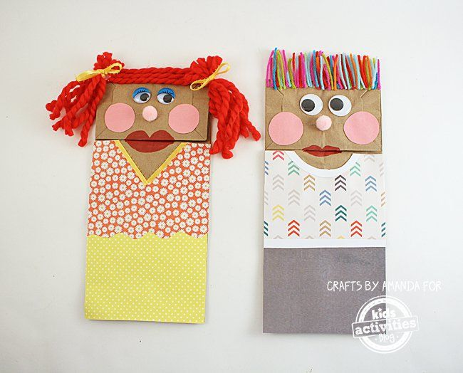 PreK Early Childhood Paper Bag Puppets Craft Projects
