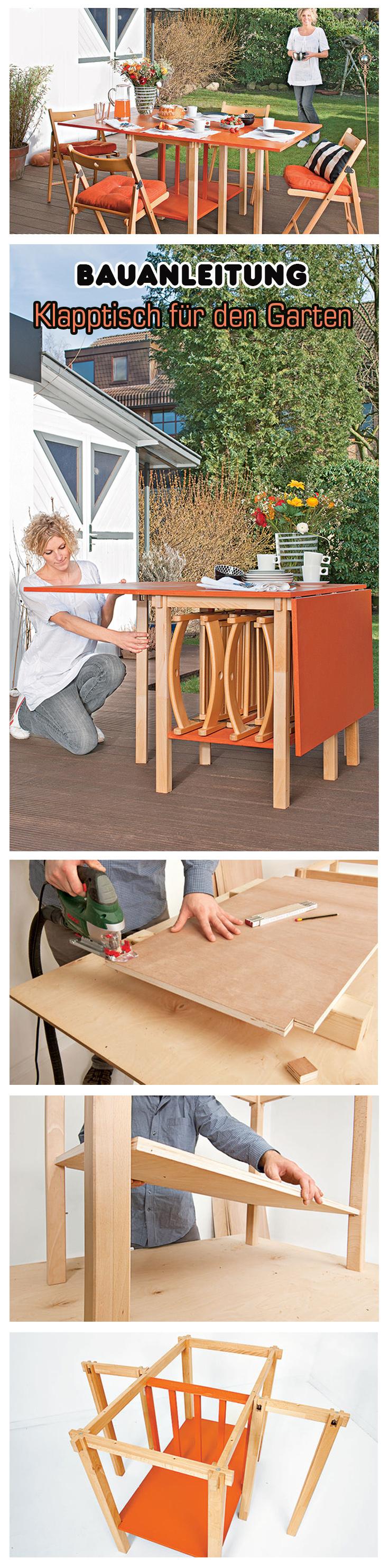 campingtisch gartenm bel bauen pinterest garten klapptisch und tisch. Black Bedroom Furniture Sets. Home Design Ideas