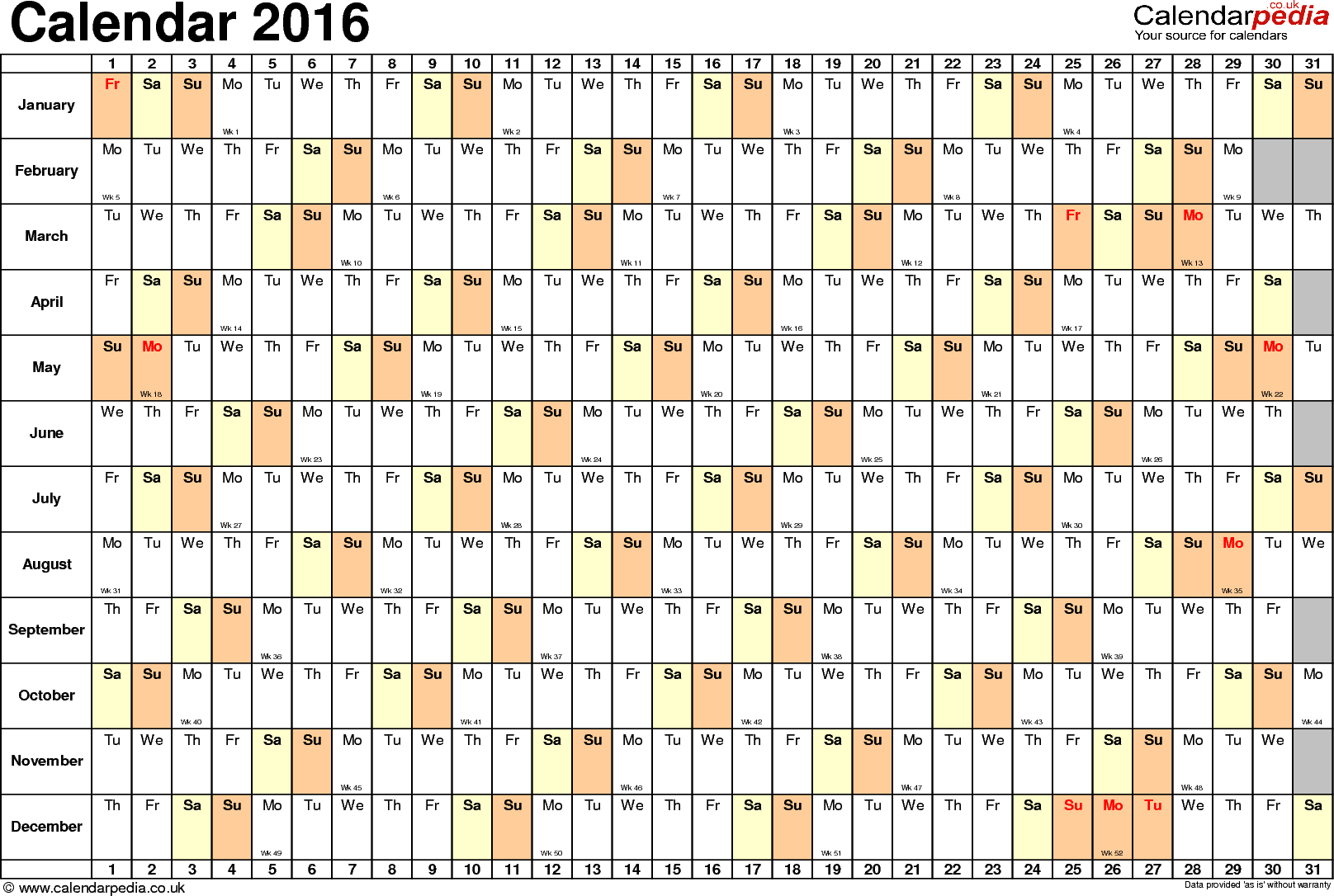 Template 6 Yearly Calendar As Template