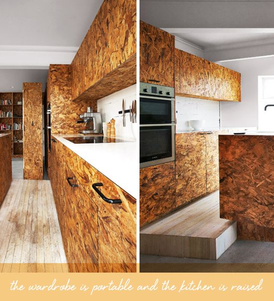 Plywood kitchen coco kelley kitchen pinterest for Plywood cupboard