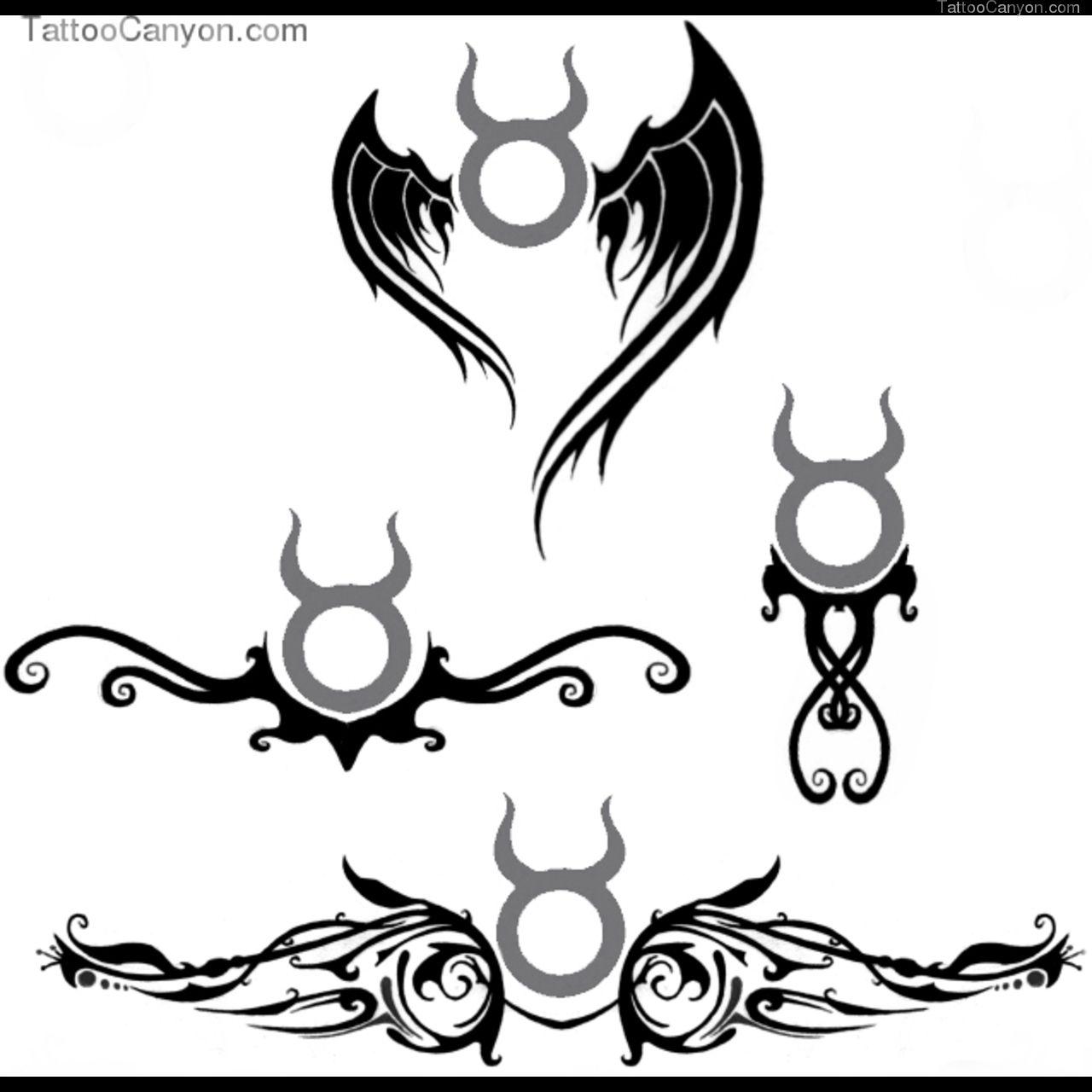 Taurus Aquarius Symbol Tattoo Designs Photo 4 Tatoos Pinterest