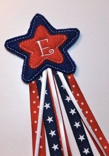 Monogramed Star Hair Pretties In the Hoop by PicklePieDesigns, $12.00
