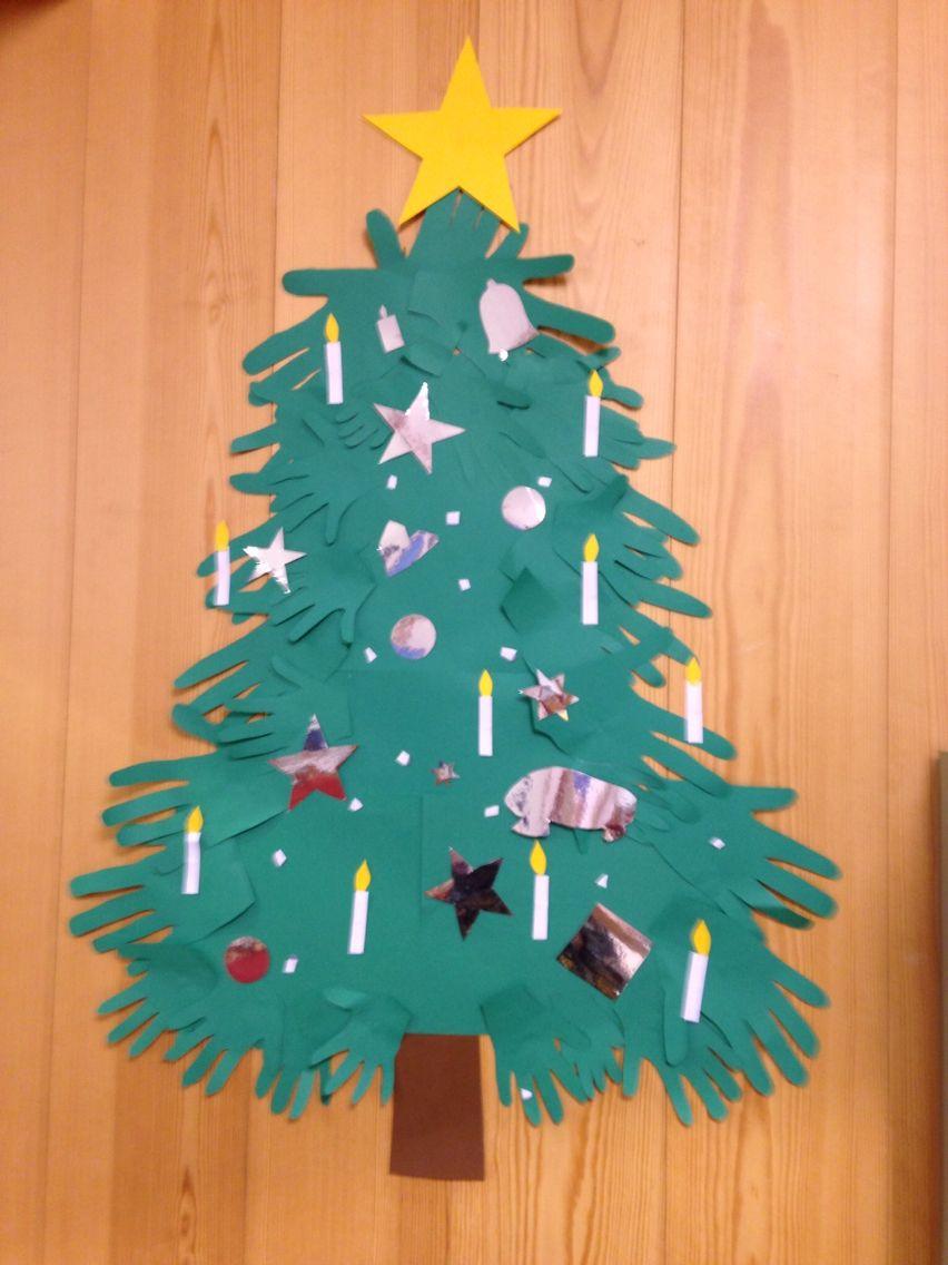 Perhekerholaisten käsistä tehty joulukuusi joulu-14