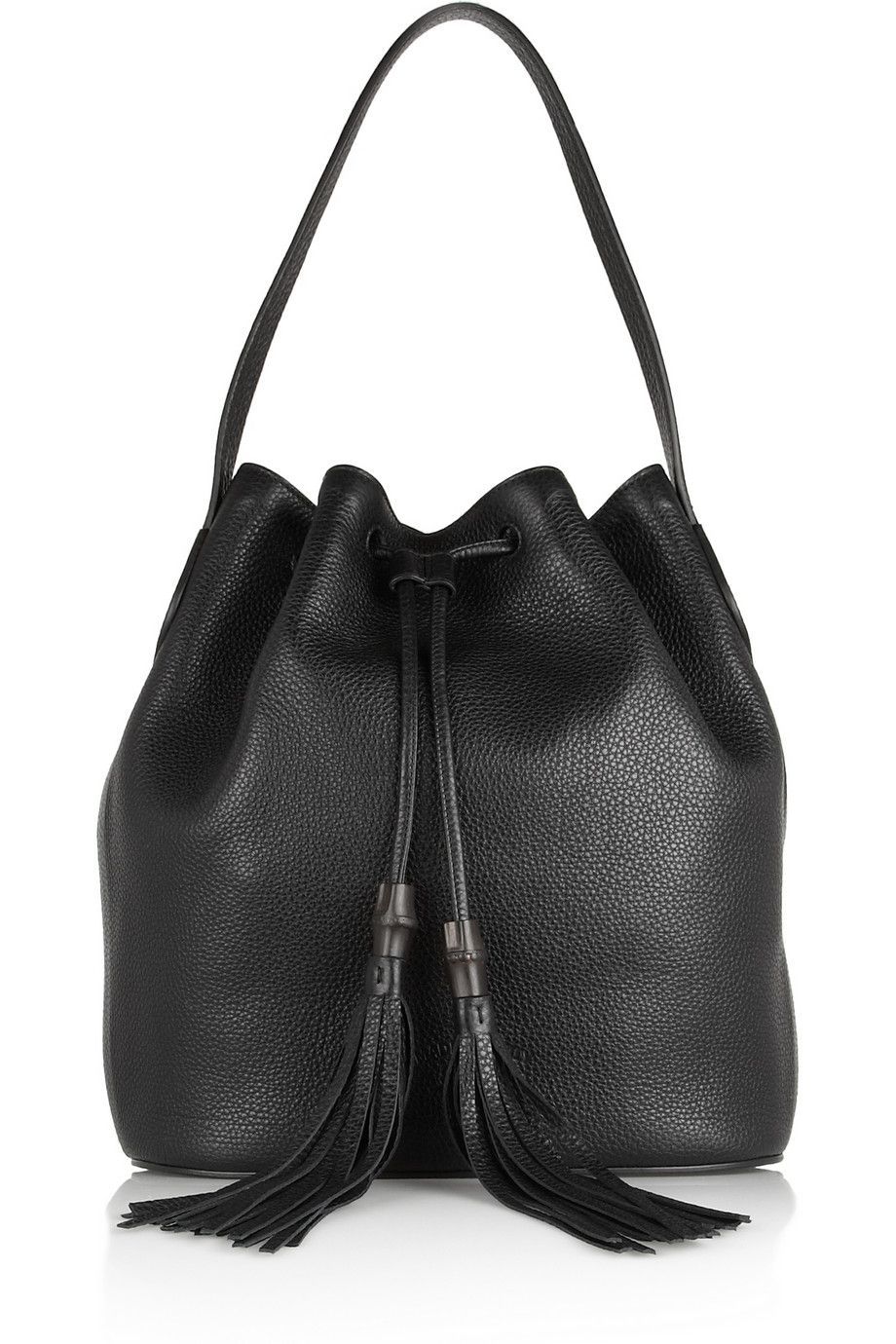 Gucci Lady Tassel textured-leather bucket bag NET-A-PORTER.COM