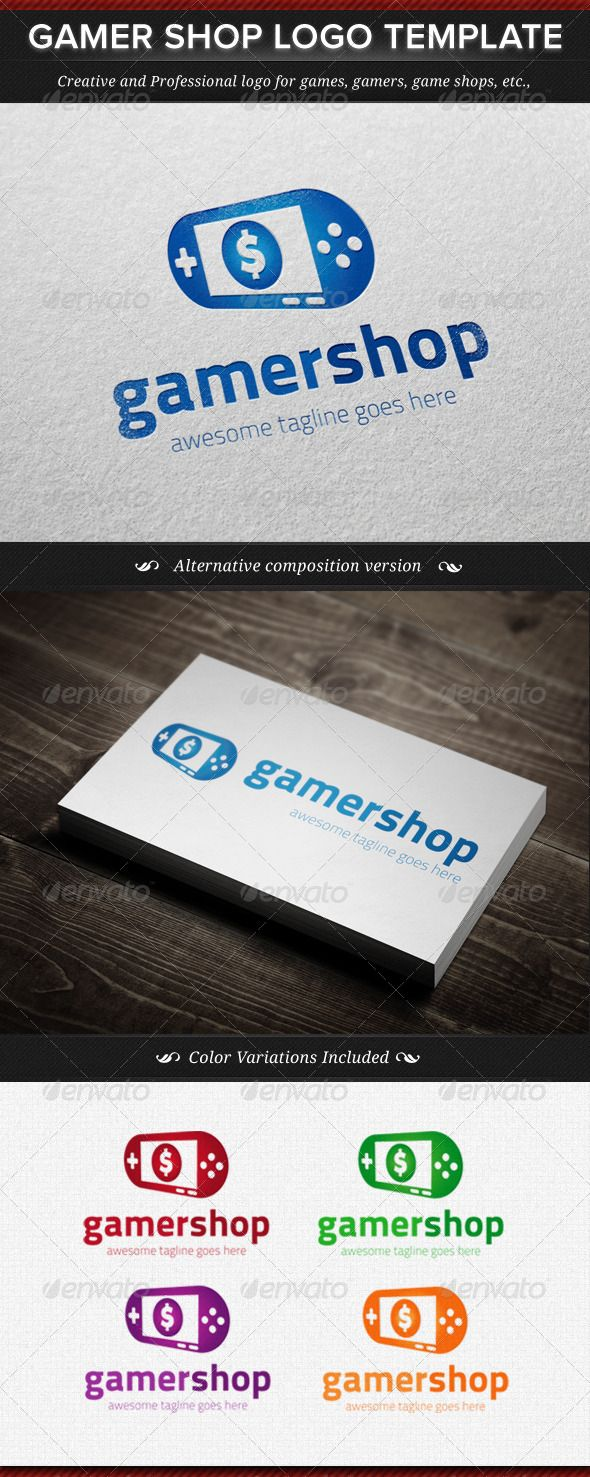 Gamer Shop Logo Template DOWNLOAD NOW ) Logo