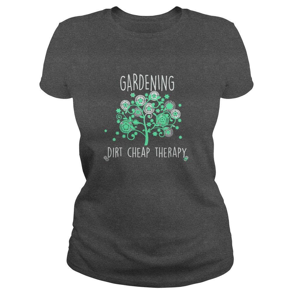 Gardening Dirt Cheap Therapy Black shirt