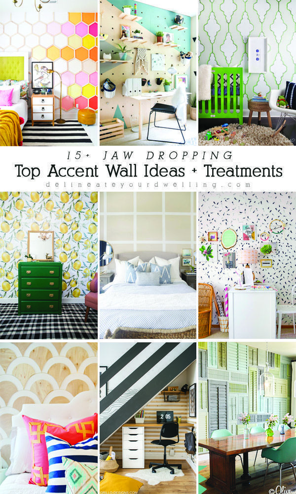 top accent wall ideas + treatments | accent wall, diy home decor, home decor