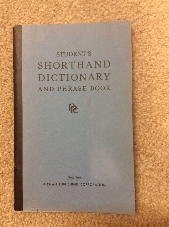 Pitman Shorthand Dictionary