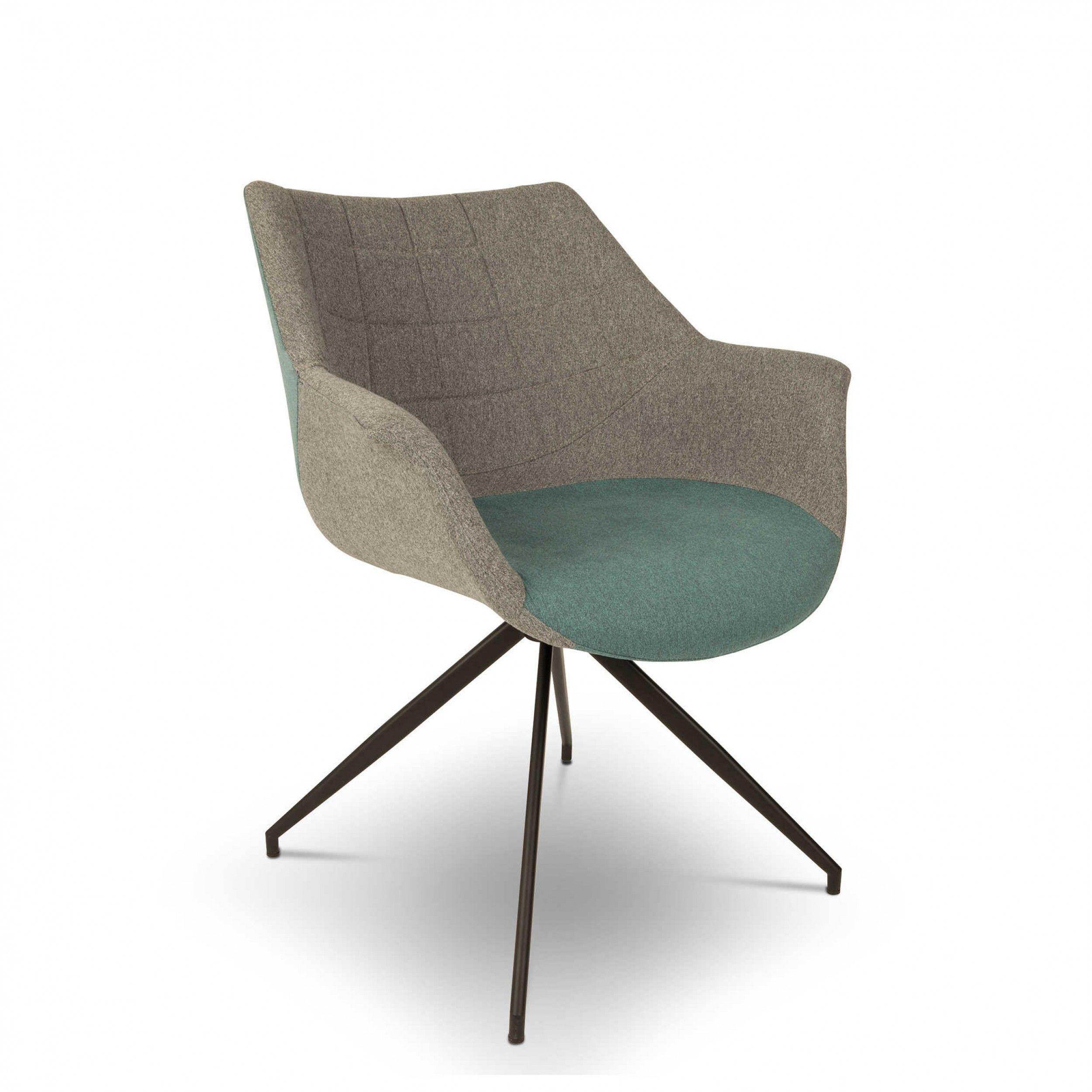 Zuiver Stuhl Doulton blau 4 Fuß Stühle Stühle