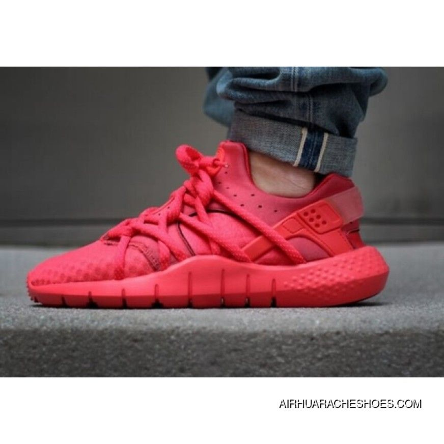 2015 Mens Huaraches Shoes Nike Air Huarache 2 Nm All Red Sneakers New  Release 92fb4b3bd