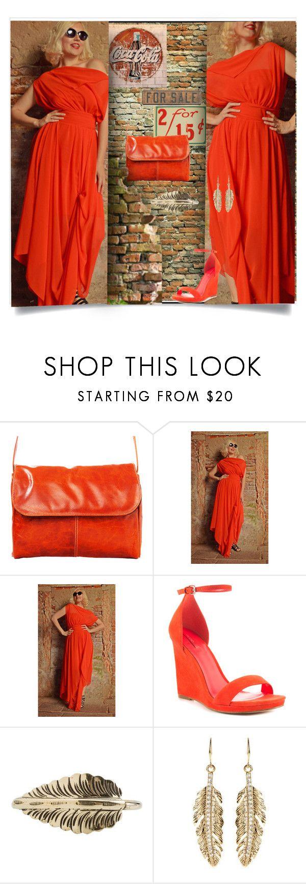"""Orange Red Kaftan"" by jax522 ❤ liked on Polyvore featuring David King & Co., ALDO, Zad and Amrita Singh"