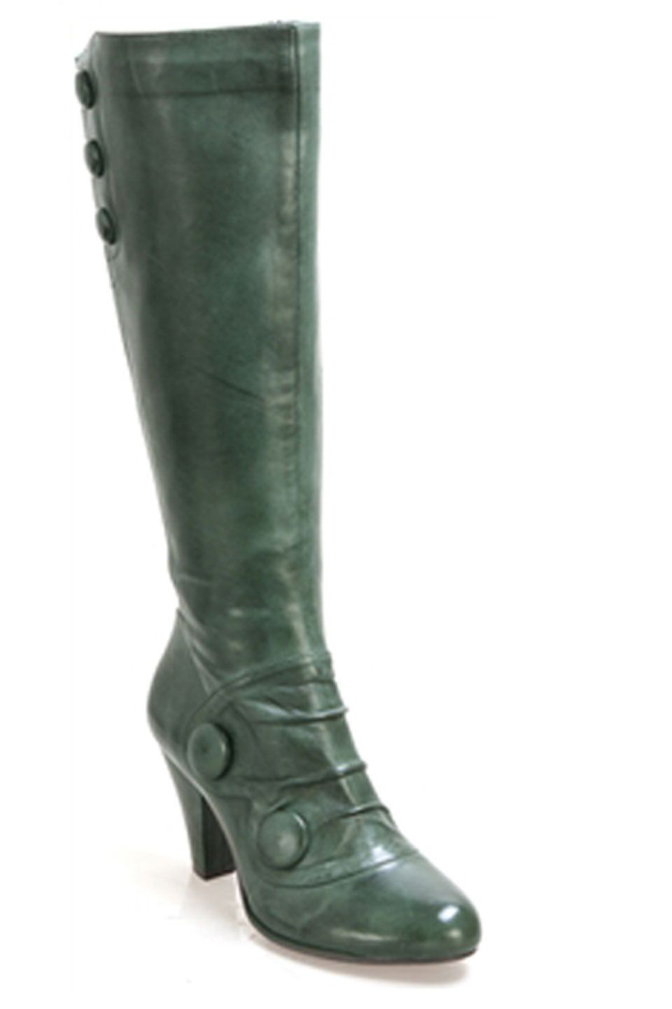 Miz Mooz Caddy Tall Boots with Button Detail in Forest - Beyond the Rack
