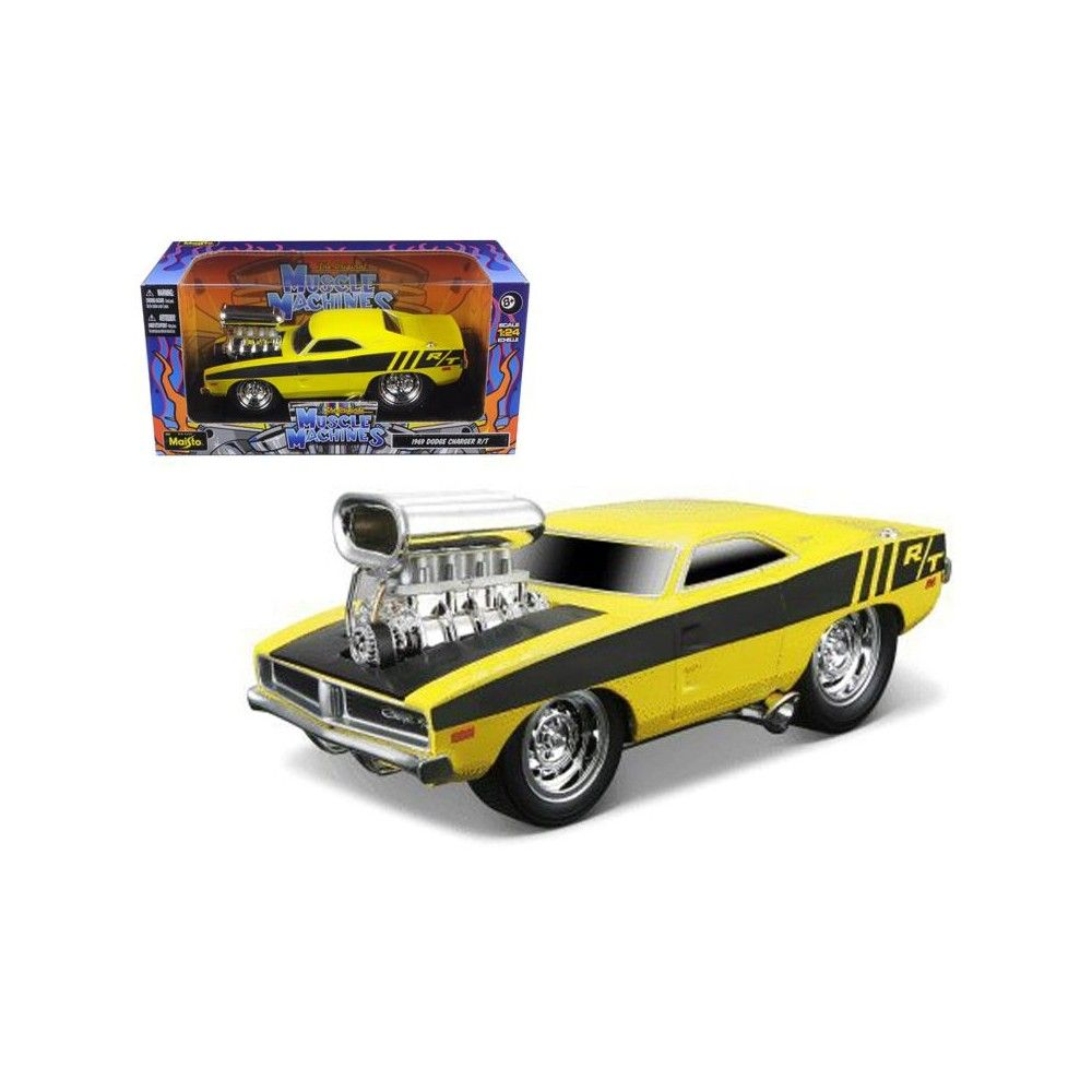 1969 Dodge Charger R/T Hemi Yellow Gasser Muscle Machines