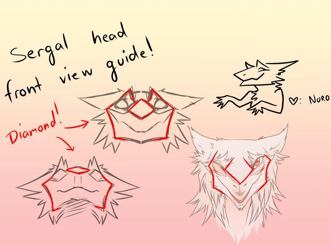 Front facing sergal | Drawing! in 2019 | Furry drawing, Furry art