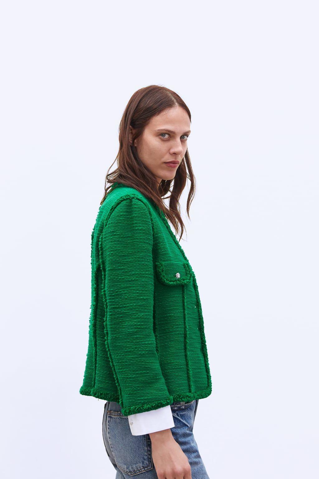 f44b465d73 Jewel button blazer | ♛ Smart Casual ♛ To Buy @ Zara ☀ Spring ...