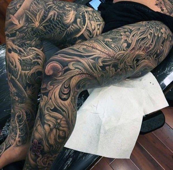 Top 47 Japanese Tattoo Ideas 2020 Inspiration Guide Leg Tattoos Leg Tattoo Men Japanese Tattoos For Men