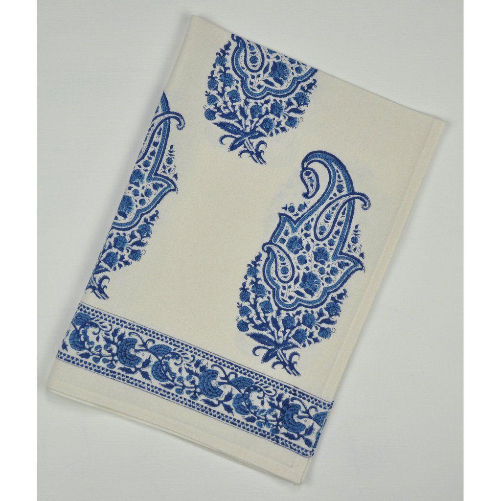 Kitchen Towel Paisley Blue P R Blue White Decor Blue And White