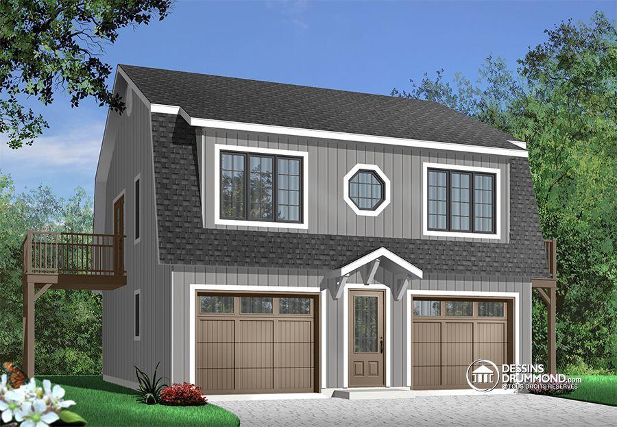 Détail du plan de Maison unifamiliale W2931 Plans de garage