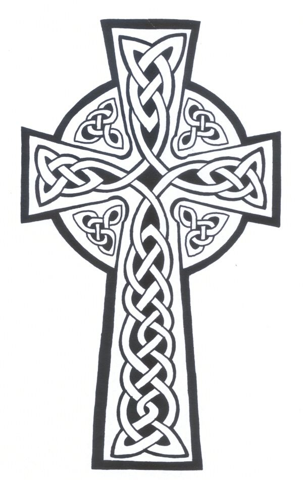 Cross Tattoo Line Drawing : Celtic cross line drawing pixshark images