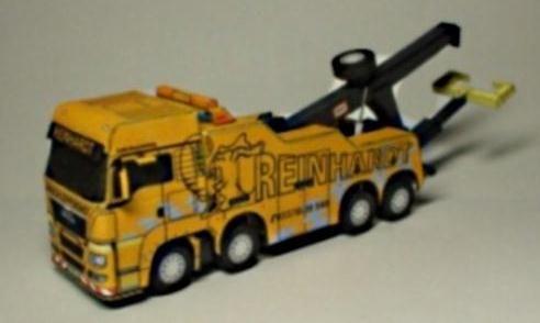 Truck Man Tgs 8x4 Reinhardt Paper Model In 1 100 Scale By Richibox Carro De Papelao Caminhao De Papelao Caminhao Desenho