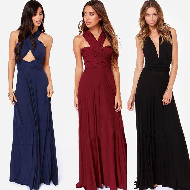 Cheap long convertible dress