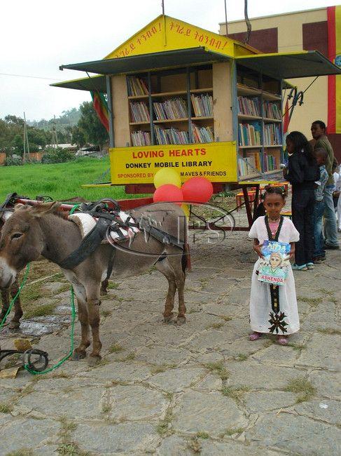 Donkey mobile library - Ethiopia