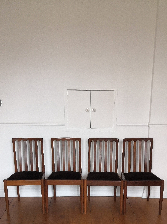 Items Similar To 4 Meredew Retro Teak Dining Chairs Mid Century Uk Made Furniture Vintage Original On Etsy Mid Century Dining Chairs Teak Dining Chairs Mid Century Chair