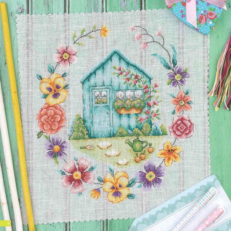 Photo of Image result for cross stitch garden shed