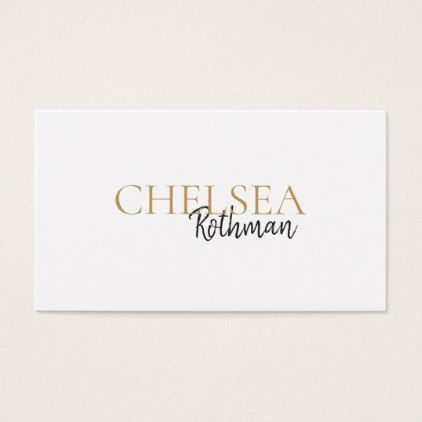 Handwritten Script Font Typography Business Card Zazzle Com