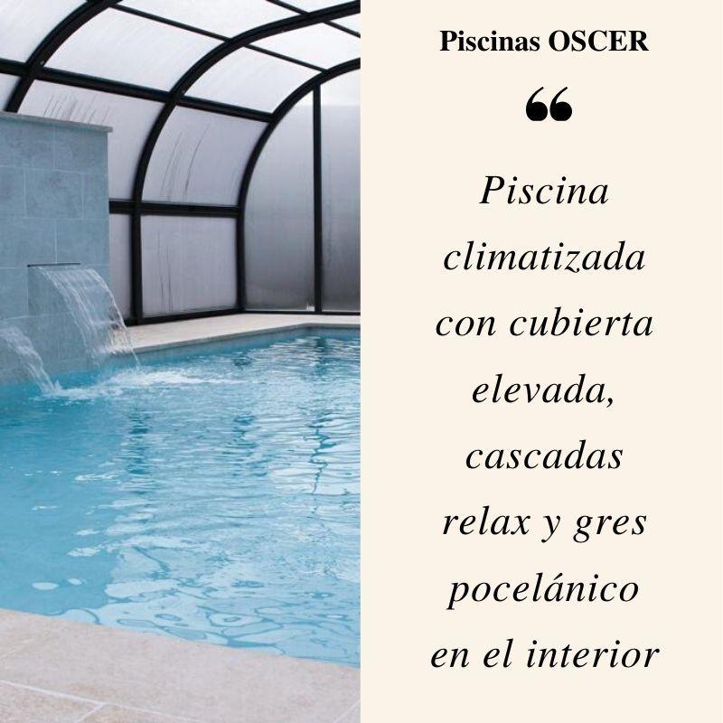 Construccion De Piscina En Madrid Con Cubierta Elevada E