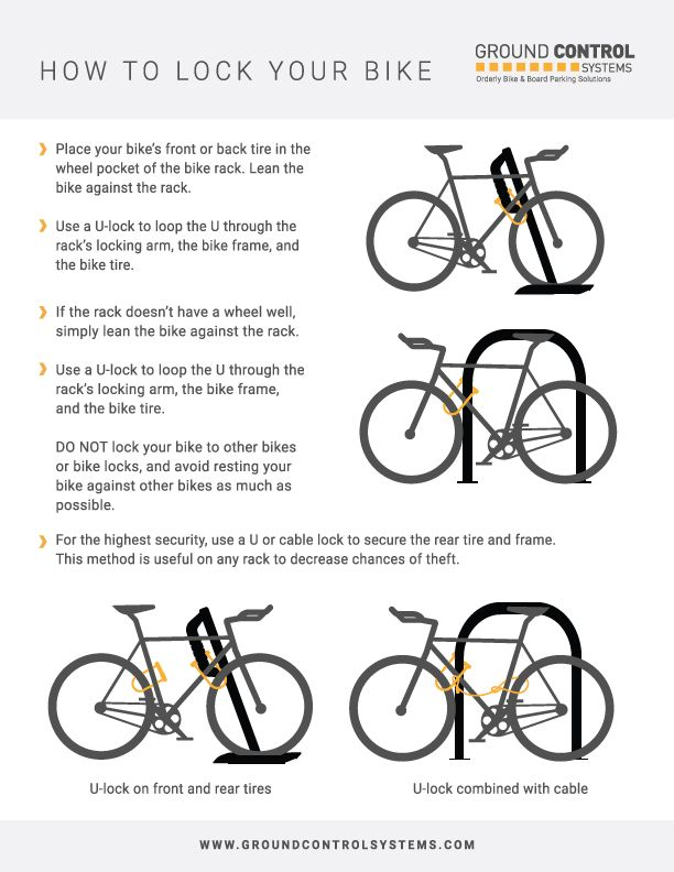 How To Lock Your Bike Bicycle Parking Tips Ground Control