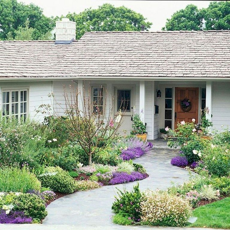 76 Lovely Front Yard Pathway Landscaping Ideas Front Yard Landscaping Design Front Yard Garden Front Yard Landscaping