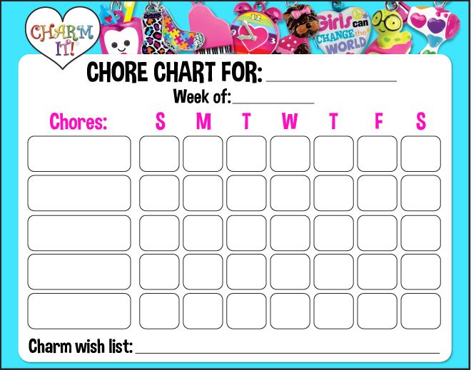 Create IT Chore Chart print, check, reward, repeat! #printable - chore chart