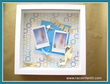 Hoy estrenamos nuestro bloque de manualidades con scrap con un marco de fotos http www - Manualidades marco fotos ...