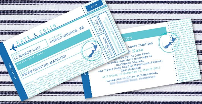 Airplane  Airline Tickets 983 Wedding Invitations