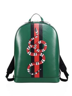 3aee4a8916c4 GUCCI Snake Printed Leather Backpack. #gucci #bags #leather #backpacks #