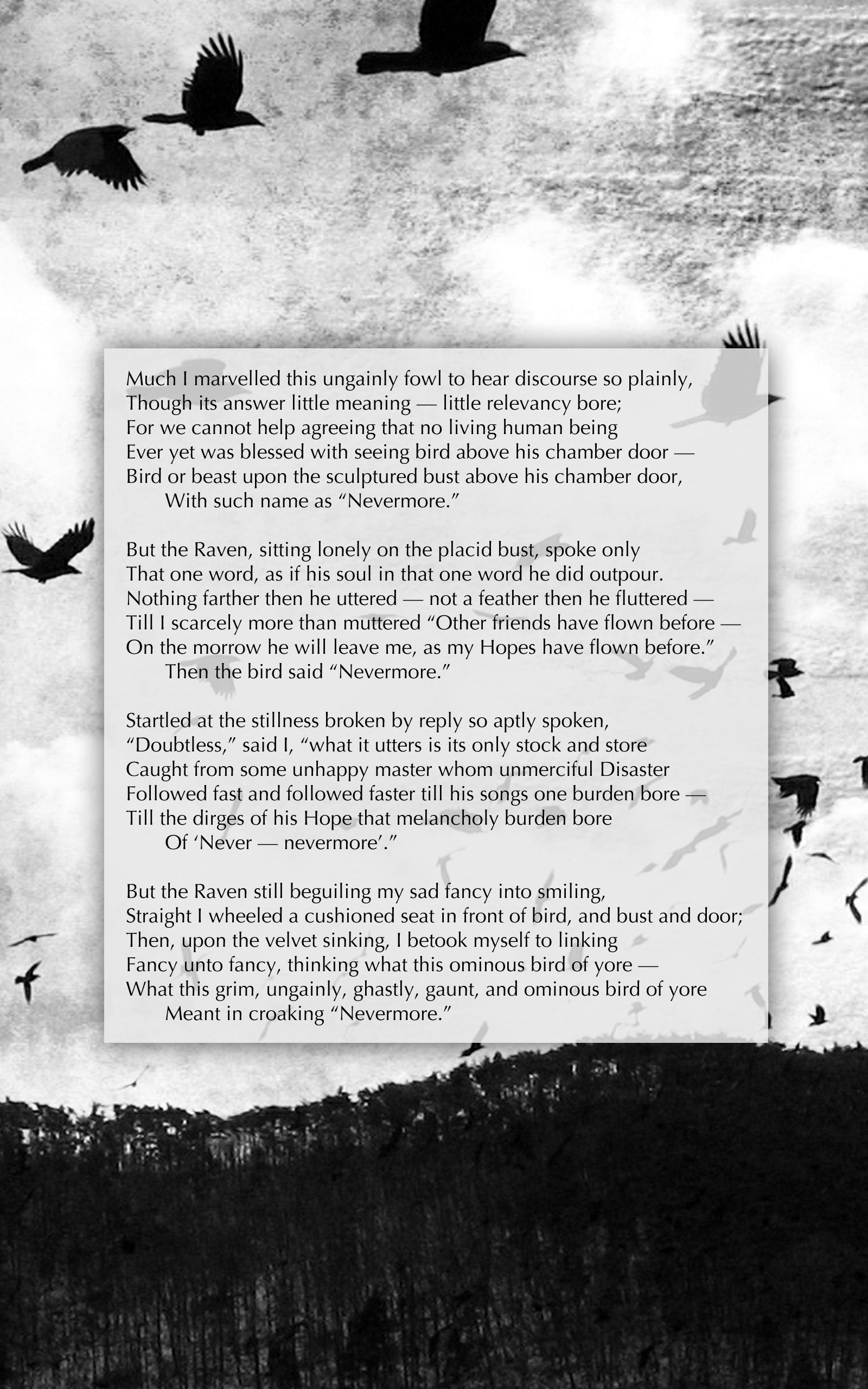 The Raven Part 3 Edgar Allan Poe S Illustrated Poem By Author De Anima Book Edito Literature Quote Poetry