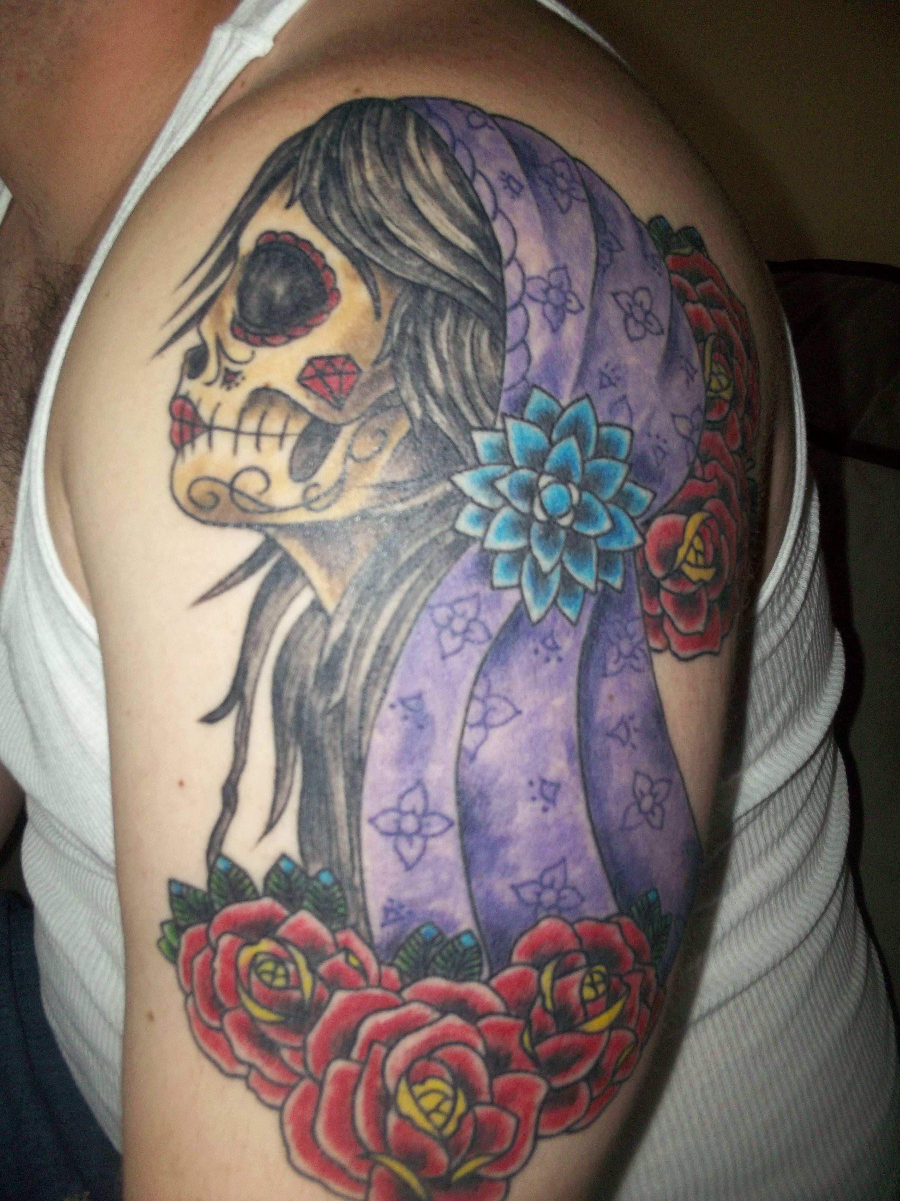 Dia de los muertos forrest lang saint hillix tattoo san