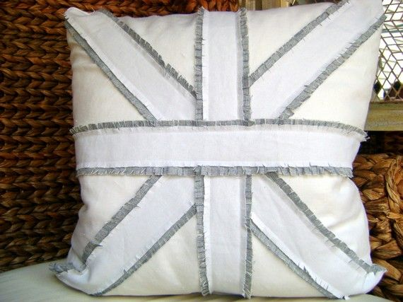 Delightful Like This Pillow, British Union Jack Linen. Accent Pillow On Etsy.