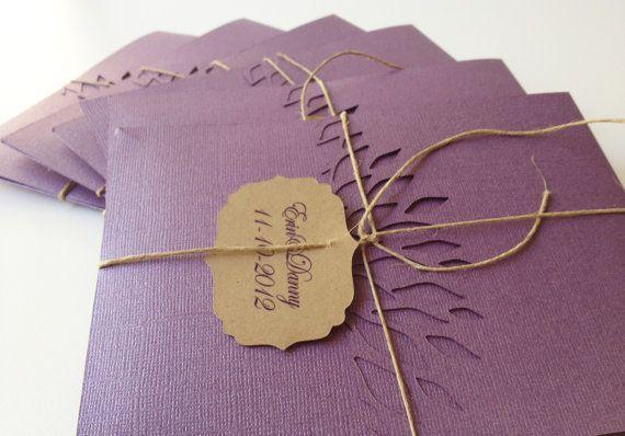 "Kraft Paper Wedding Invitation 5""x7"" with Hemp twine & tag-Wedding-Invitations-Unique Wedding Invitations. $3.50, via Etsy."
