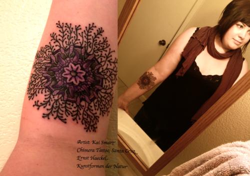 done by the lovely Kai Smart @ Chimera Tattoo in Santa Cruz!
