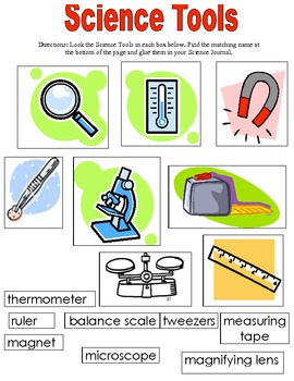 Matching Science Tools Science Tools Science Worksheets