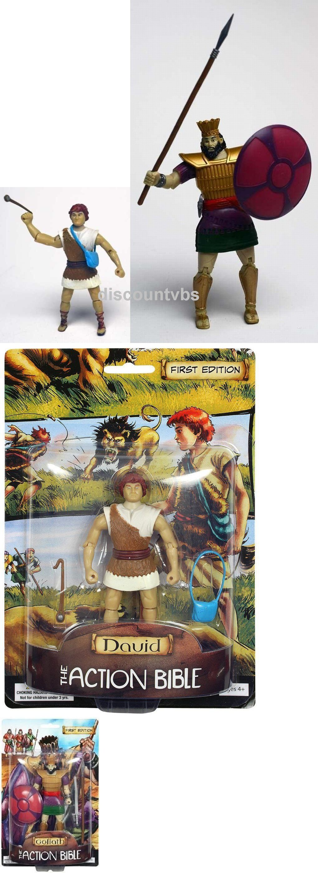David And Goliath Beginners Bible Action Figures ... |David And Goliath Action Figures