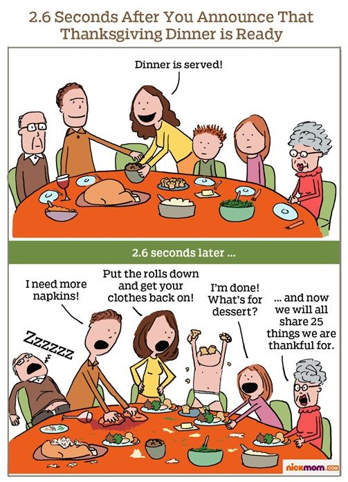 Exactly why we're doing a separate kids' table this year ...