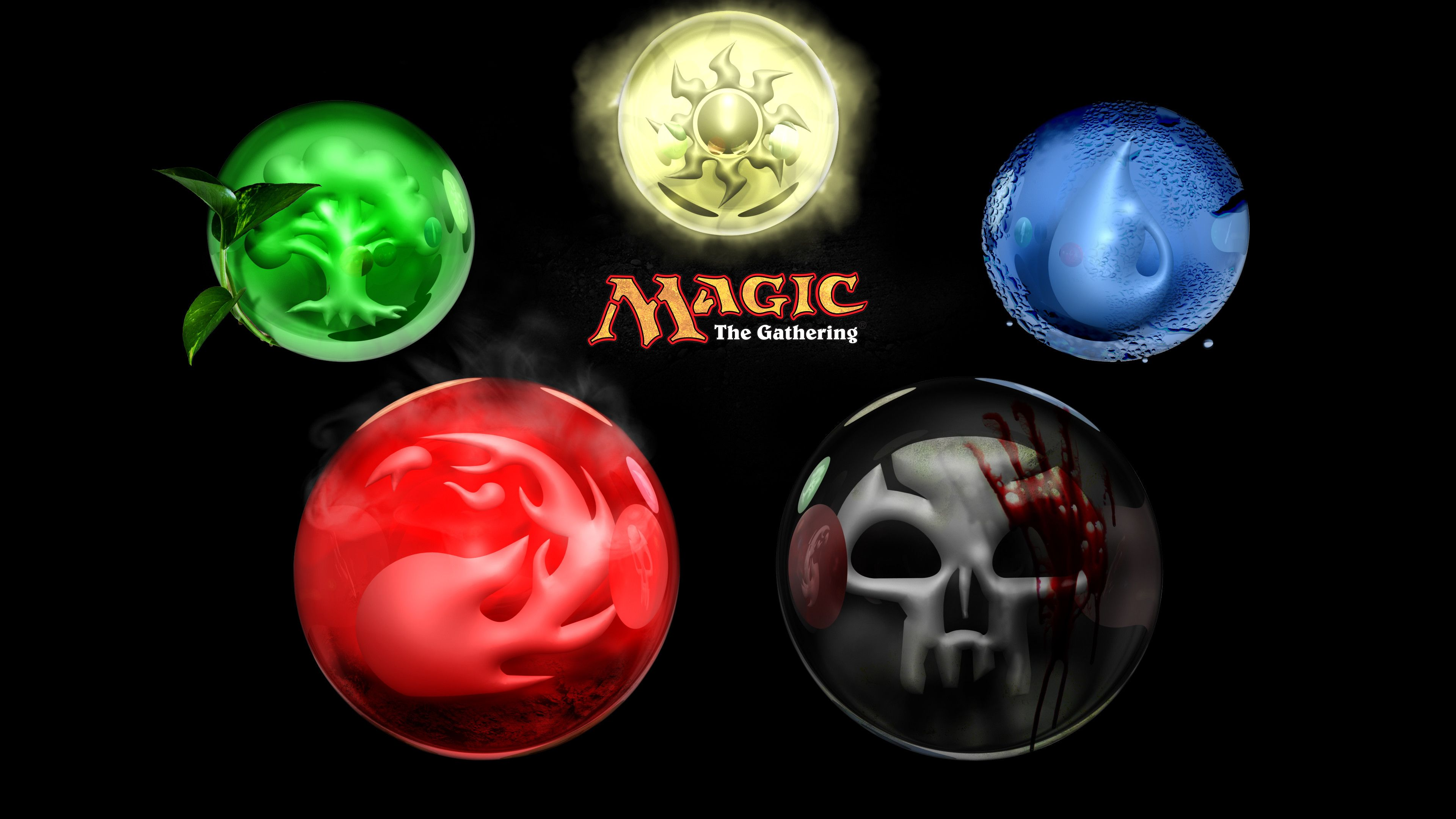 3840x2160 Game Magic The Gathering Colors 3d Element Game