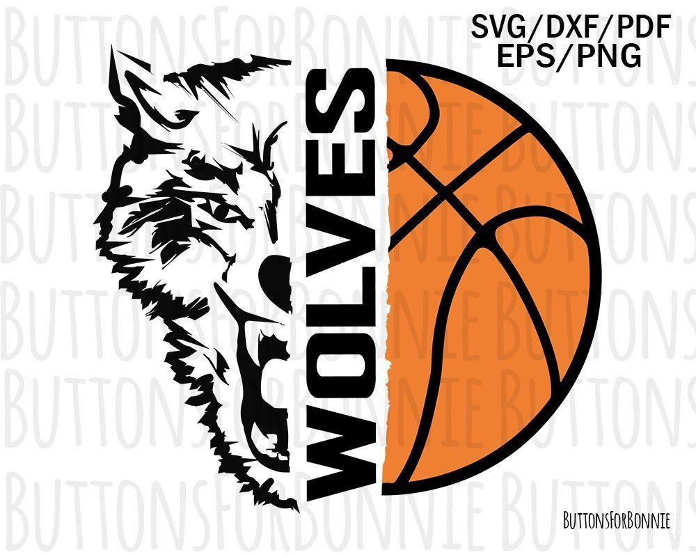 f7ab82abd wolves basketball svg, wolves svg, basketball svg, cut file, sports svg,  mascot svg, shirt design, basketball mom svg, cricut, wolf emblem by ...