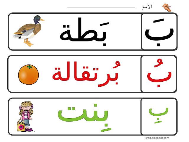 حرف الباء لرياض الاطفال Arabic Kids Arabic Alphabet For Kids Arabic Alphabet