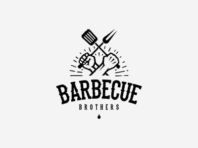 Barbecue Brothers   Branding design logo, Logo restaurant